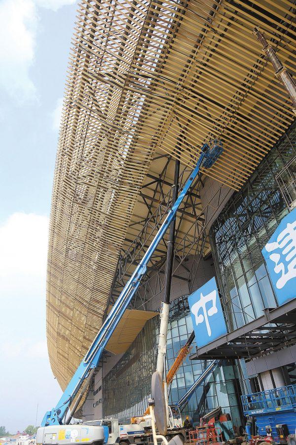 """国际会展中心建设创造""""驻马店速度"""""""